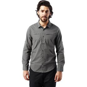 Craghoppers Kiwi Trek Longsleeve Shirt Men Ashen
